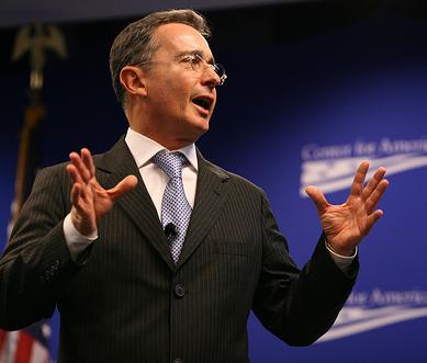Colombian President Álvaro Uribe