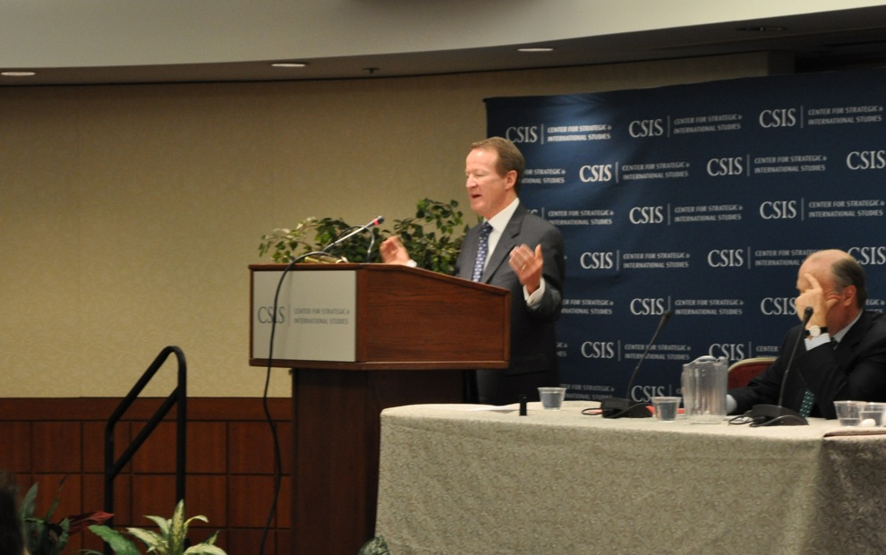 U.S. Ambassador William Brownfield discussed the U.S.-Colombia Military Cooperation Agreement at the Center for Strategic and International Studies in December. Photo by Roque Planas.
