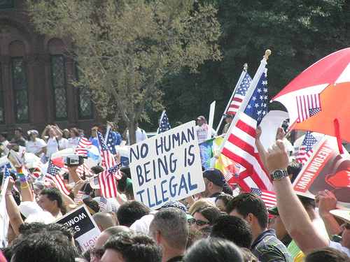 Protesters demonstrating in favor of comprehensive immigration reform in Washington, March 21. Image courtesy of