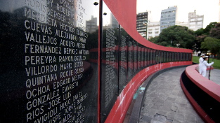 A memorial in Buenos Aires to the soldiers who died in the war with Britain over the Falkland Islands