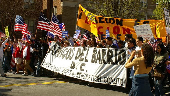 Demonstrators at a march for immigration reform in Washington in April of 2006.