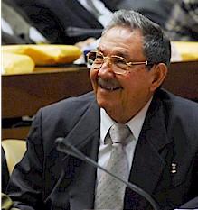 Cuban Head of State Raúl Castro.