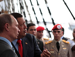 Venezuelan Presient Hugo Chávez met with Russian Prime Minister Vladimir Putin on Friday.