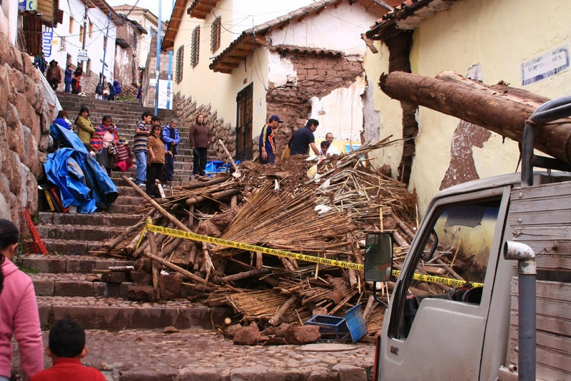 Damaged caused by heavy rains in January, Cusco.