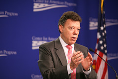 Former defense minister and current presidential candidate Juan Manuel Santos.
