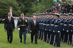 U.S. President Barack Obama and Mexican President Felipe Calderón met on Wednesday.