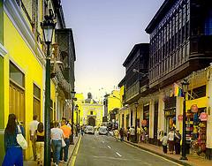 Street scene in Lima, Peru.