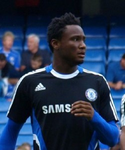 Nigeria's John Obi Mikel before a game with his club team Chelsea. Photo by John Dobson @ Wikicommons.