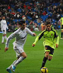 Cristiano Ronaldo on Real Madrid. Photo by Jan S0L0 @ Flickr.