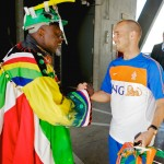 The Netherland's Wesley Sneijder in South Africa. Photo by TBWA\Busted @ Wikicommons.
