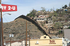 The Arizona-Mexico border at Nogales.