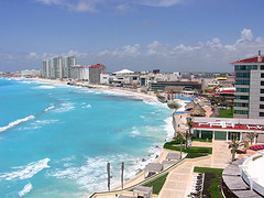 The city of Cancún, Mexico.