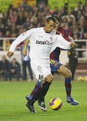 Brazil's Luis Fabiano on Sevilla FC. Photo by  superleague formula: thebeautifulrace @ Flickr.
