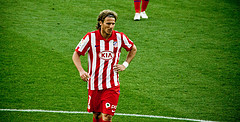 Uruguay's Diego Forlán on Atlético Madrid. Photo by IvanG @ Flickr