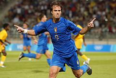 Italy's Alberto Gilardino celebrates. Photo by debephoto @ Flickr.