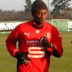 Asamoah Gyan training. Photo by Pymouss44 @ Wikicommons.