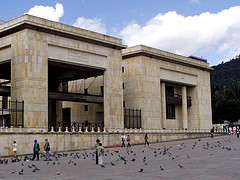 The Palace of Justice in Bogotá, Colombia.