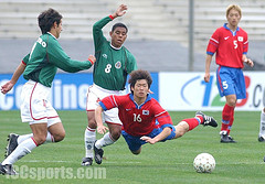 Park Ji-Sung during a match with Mexico. Photo by ICCSPORTS @ Flickr.