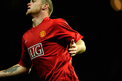England's Wayne Rooney on Manchester United. Photo by toksuede @ Flickr.