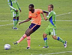 Ivory Coast's Yaya Toure on Barcelona. Photo by marc_tacoma @ Fickr.