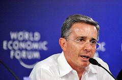 Colombian President Álvaro Uribe.