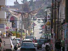 The town of Zitacuaro, Mexico.