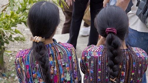 Two women in Panajachel, Guatemala.