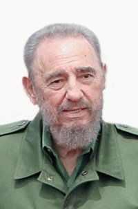 Former Cuban head of state Fidel Castro.
