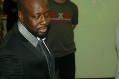 Haitian-American hip hop star and presidential candidate Wyclef Jean.