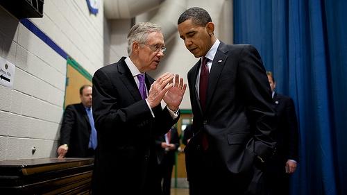 Senator Harry Reid and President Barack Obama.