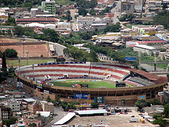 The National Stadium in Tegucigalpa, Honduras.