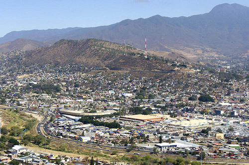 A view of Oaxaca City, about 80 KM from where mudslides buried around 300 homes.