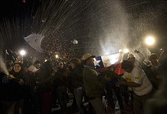 Chileans celebrated the return of the 33 trapped miners on Wednesday.