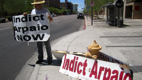 protests sheriff Joe Arpaio.