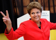 Frontrunner for the Brazilian presidency, Dilma Rousseff.
