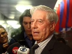 Peruvian author and Nobel Prize laureate Mario Vargas Llosa.
