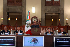 Mexican President Felipe Calderón spoke on Thursday at the 24th session of the National Public Security Council.