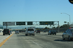 The highway to San Diego, California.