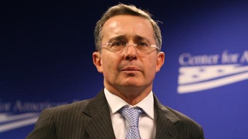 Ex-president of Colombia, Álvaro Uribe Vélez.