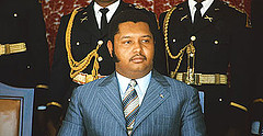 "Former Haitian dictator Jean-Claude ""Baby Doc"" Duvalier."
