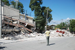 A scene from Port-au-Prince following the Jan. 12 earthquake.