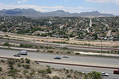 The Mexican city of Ciudad Juárez, viewed from across the border in El Paso.