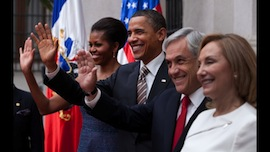 President Obama visited Chile on Saturday. (White House photo)