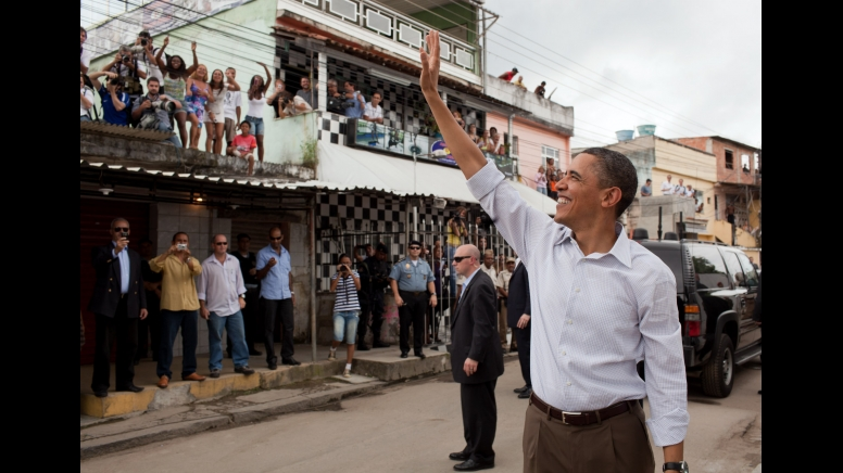 U.S. President Barack Obama in Brazil's Ciudad de Deus (City of God) favela. Photo by Pete Souza