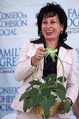 First lady of Guatemala Sandra Torres de Colom.