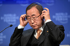 U.N. Secretary General Ban Ki-Moon.
