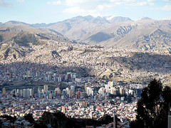 The city of La Paz.