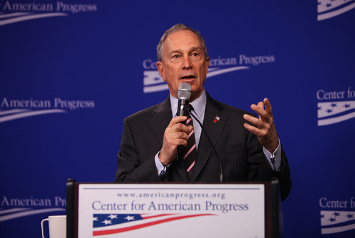 New York City Mayor Michael Bloomberg. Photo By Center For American Progress.