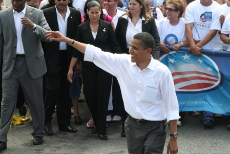 Barack Obama in Puerto Rico during his 2008 presidential campaign.