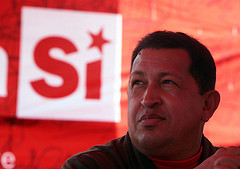 Venezuelan President Hugo Chávez. Photo by Que Comunismo.